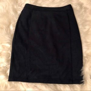 Loft NWOT Navy Blue Faux Suede Pencil Skirt